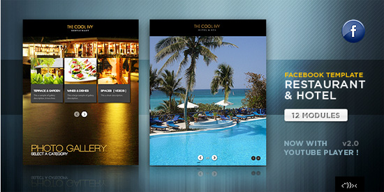 Activeden Facebook Restaurant & Hotel Template