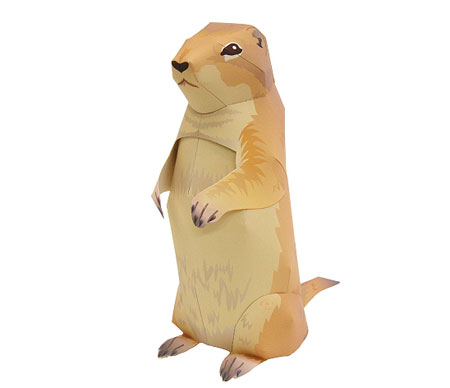 Prairie Dog Papercraft