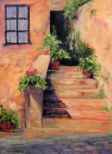 """""""Castelinna in Chianti"""" by artist Diana Saffo Bono."""