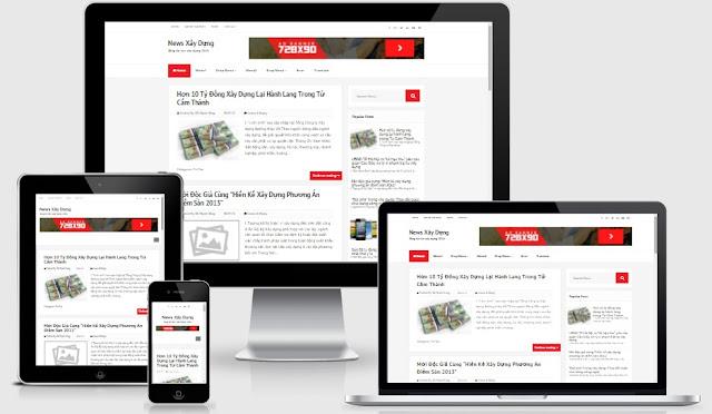 Template blogspot cá nhân chuẩn seo miễn phí download