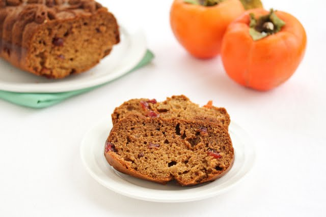 photo of a slices of Persimmon Bread on a plate