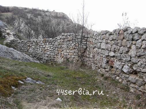 Крепостная стена изнутри