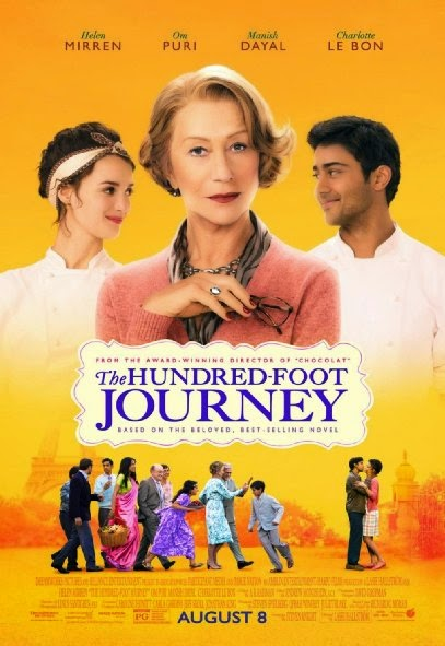 Poster Of English Movie The Hundred-Foot Journey (2014) Free Download Full New Hollywood Movie Watch Online At Alldownloads4u.Com
