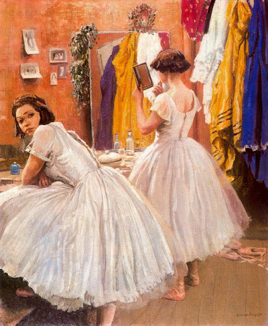 Laura Knight - A Dressing Room at Drury Lane