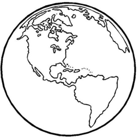 Planeta tierra para colorear e imprimir - Imagui