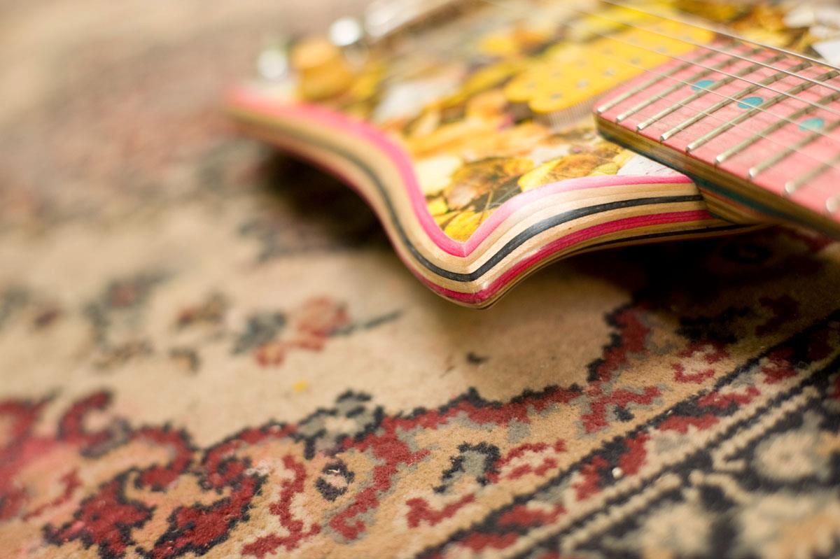 *Skate Guitar 回收再生:電音滑板吉他! 4