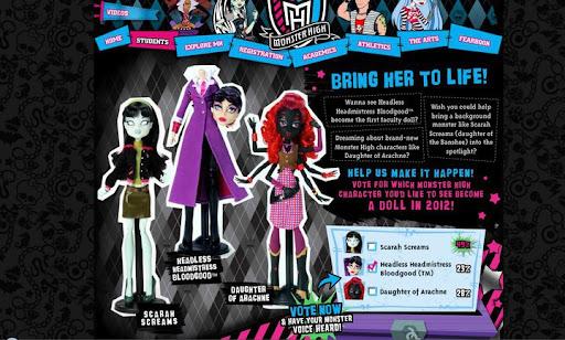 Monster High - votación nueva muñeca