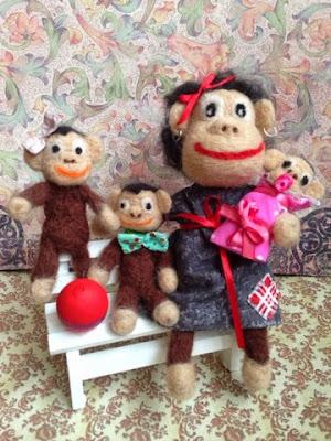 обезьяна, игрушка, валяние