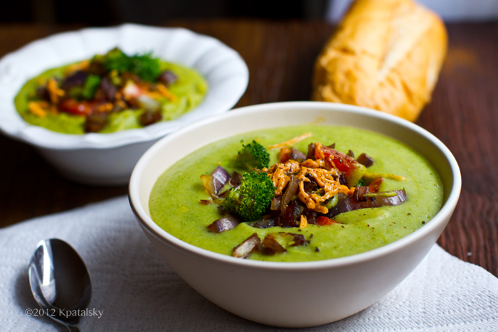 Cheezy Loaded Potato Broccoli Soup Healthy Makeover Recipe Vegan