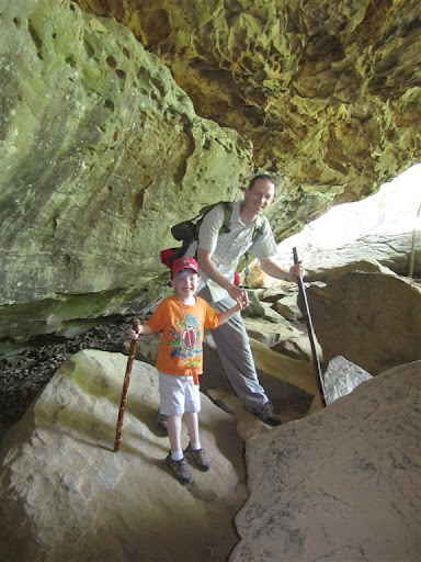 Joe and Dad @ Rock House Cave