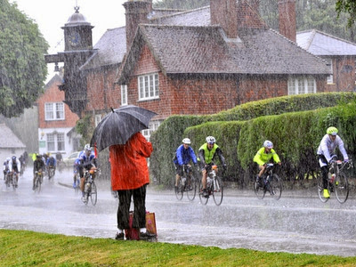 Wet cyclists