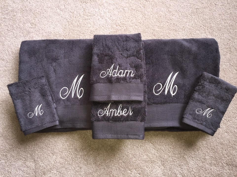 Embroidered Towel Set