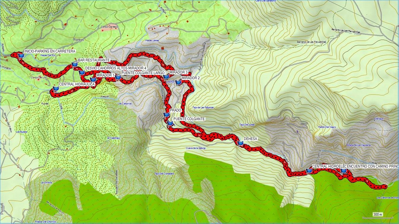Los Cahorros Monachil Mapa.Los Cahorros De Monachil Pisaprados