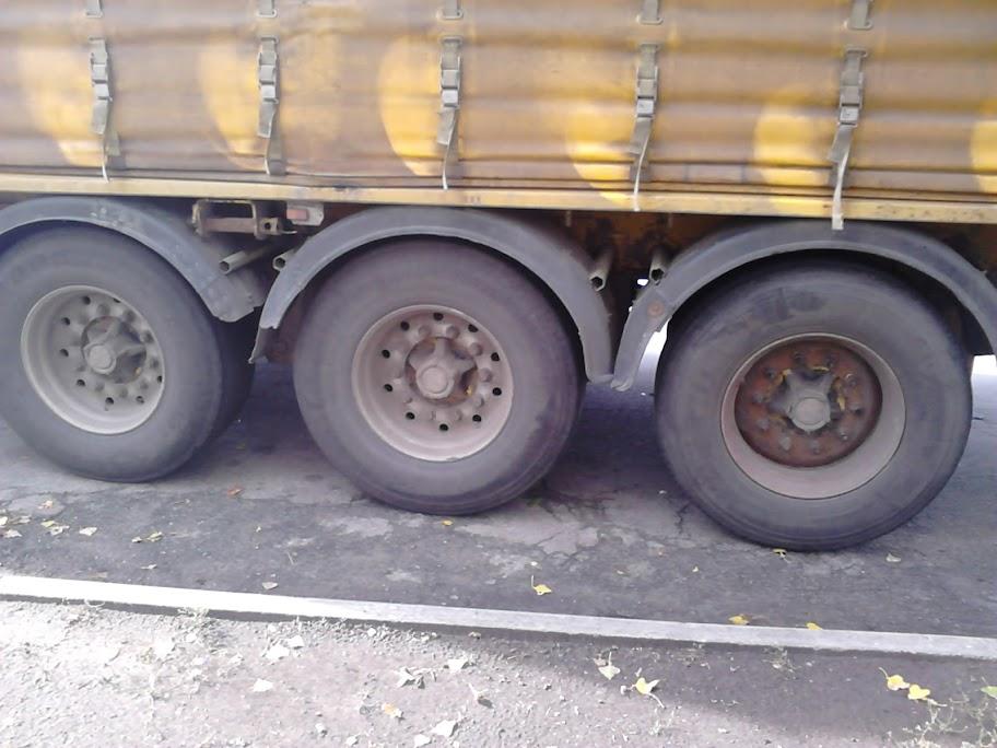 Колеса грузовика сфотографированы на Sony Xperia Tipo Dual