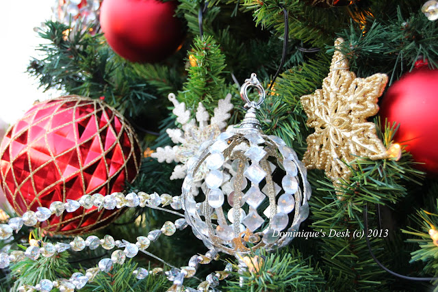 Silver and colored baubles