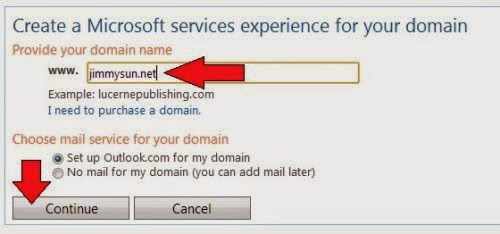 email custom domain outlook.com