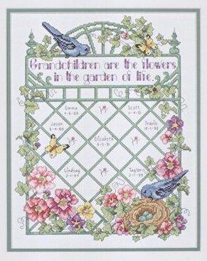 Grandchildren are flowers cross stitch patterncross stitch pattern