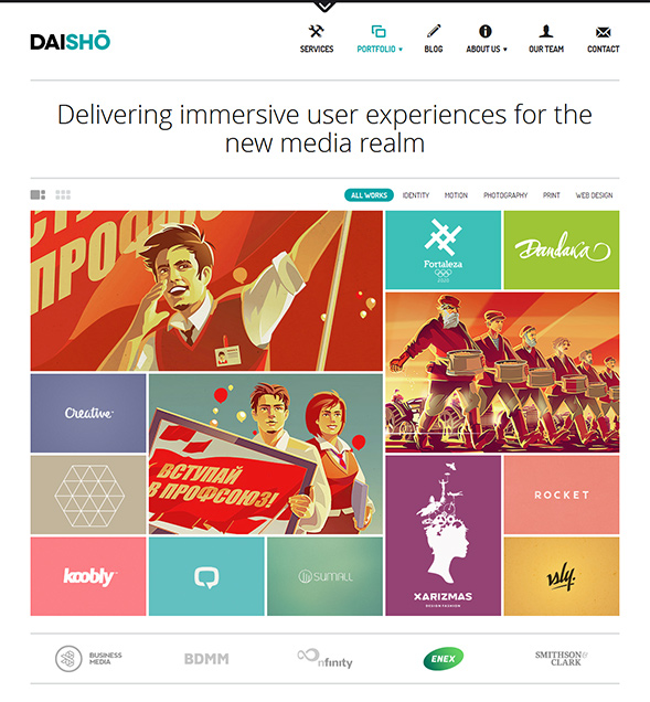 Daisho WordPress Theme with Responsive Layout