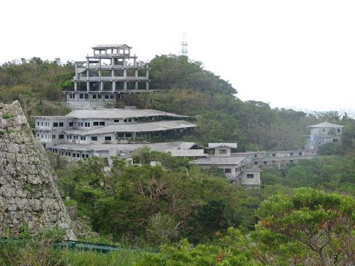 中城高原ホテル予定の廃墟