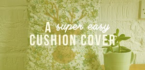 make a simple cushion cover