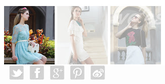 screen capture of photos of a woman and icons for social media on the Weles website