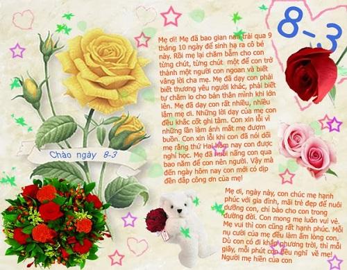 Thơ 8-3 tặng Mẹ