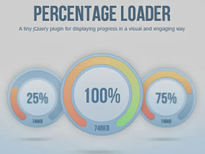 Percentage Loader - jQuery Plugin for Displaying Progress Widget