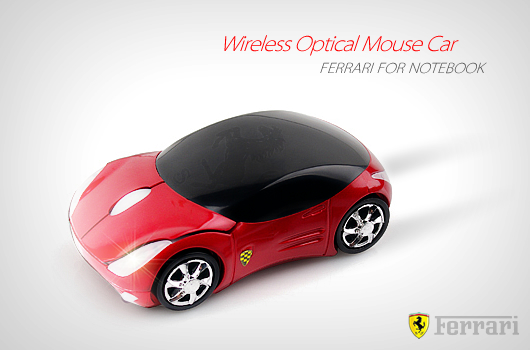 Ferrari Wireless Optical Mouse Car