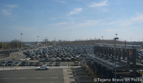 airport long-term parking area