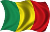 Mali - bandeira para colorir