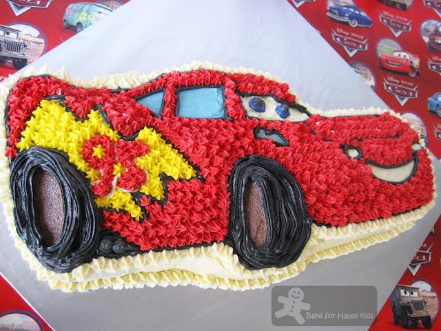 Bake for Happy Kids Lightning McQueen cake