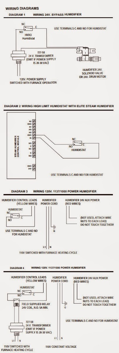 Wiring Diagram For Humidistat Fan : Aprilaire wiring diagram transformer