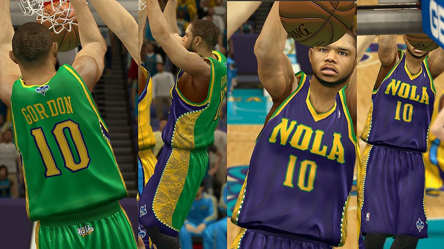d1aab2a1f NLSC - New Orleans Hornets Jersey with Crowd Fixed Moddingway - http   www. moddingway.com file 36072.html