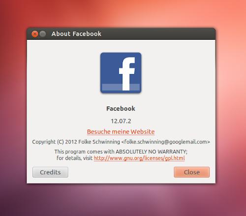 Facebook Applicazione per Ubuntu - info