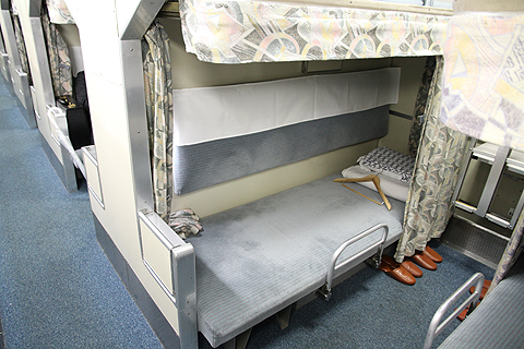 JR寝台特急「日本海」 4001レ B寝台 下段 その2