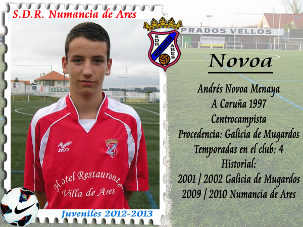 A.D.R. Numancia de Ares. Andrés Novoa.
