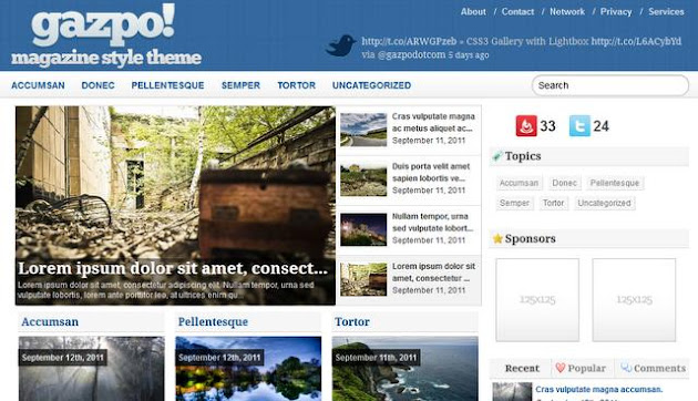 Gazpo WordPress Theme