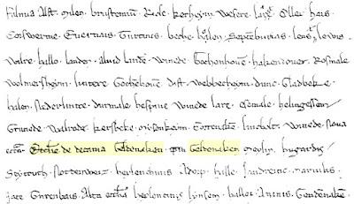 Uit: Cartularium van Sint-Trudo, 1139, f. 137 (Rijksarchief Hasselt)