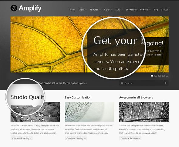 Amplify WordPress Theme with Beautiful Typography