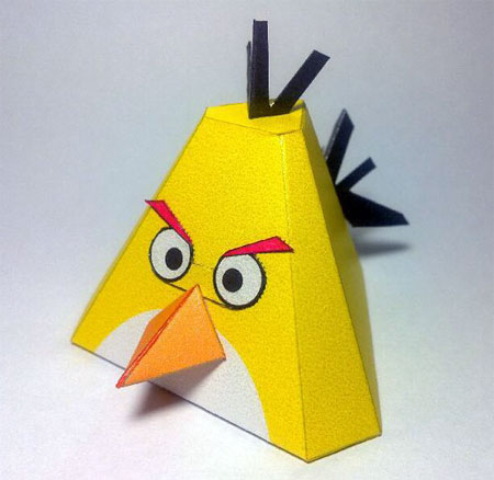 Yellow Angry Birds Papercraft