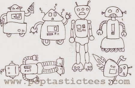 retro robots by cynthia bauzon arre