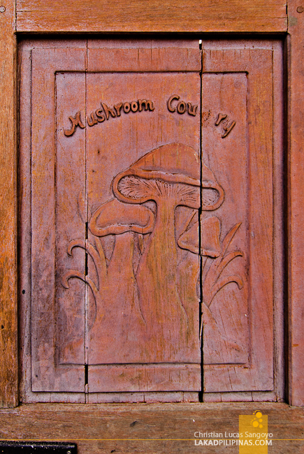Carvings at the Door of Tagaytay's Mushroom Burger
