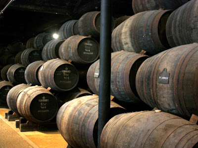 Wine barrels in Vila Nova de Gaia Portugal