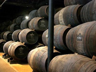 Wine barrels in Vila Nova de Gaia Portugal