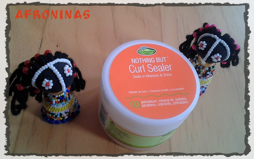 nothing but curl sealer, cabello afro natural, sellado de rizos, peinado afro, moldeado rizos