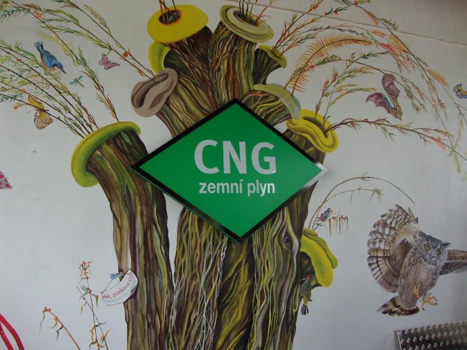 Stacja CNG - estetyczna i elegancka reklama