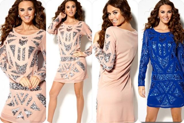 c5c0327cfa64 Vila glimmer kjole