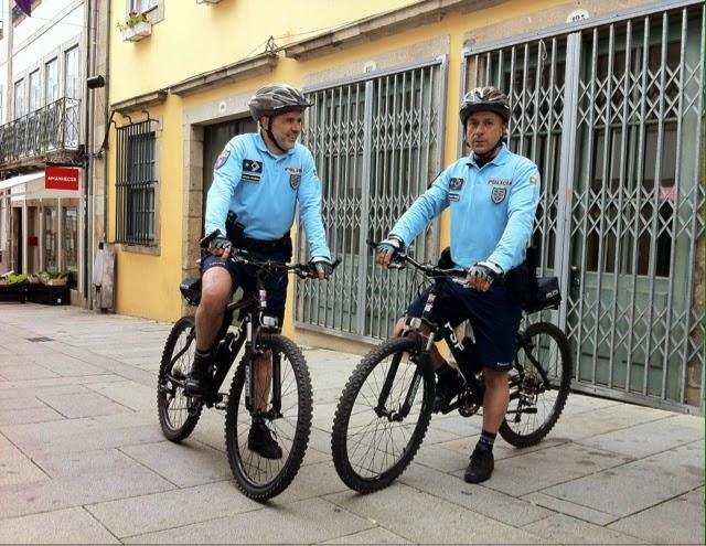 PSP Braga em bicicleta