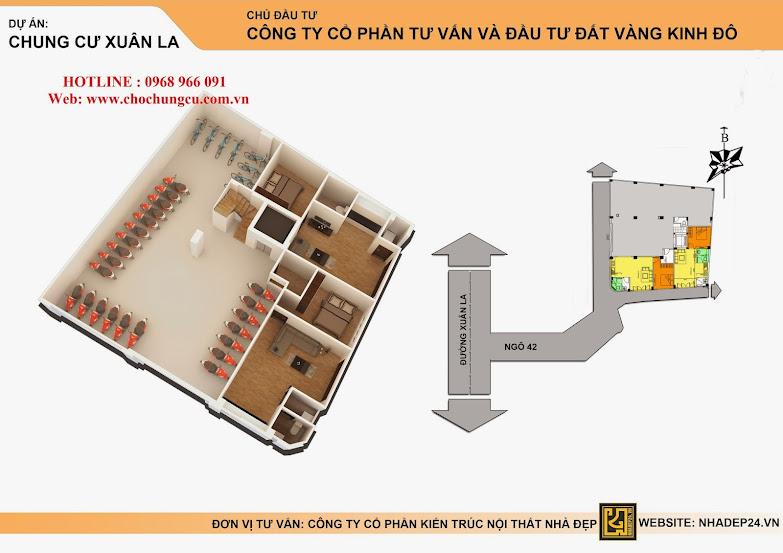 Bán nhà Chung cư Xuân La 1,1 tỷ thuận tiện kinh doanh