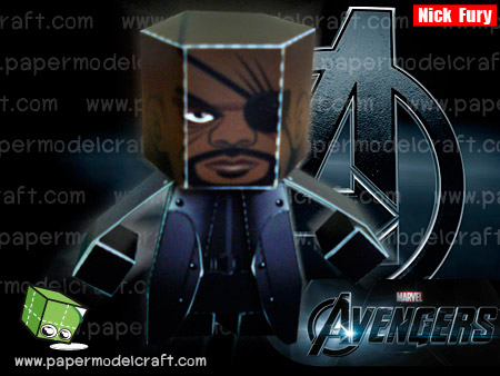 Nick Fury Paper Toy